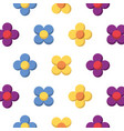 flower natural floral decoration seamless pattern vector image vector image
