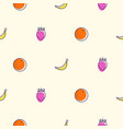 fruits colored icons seamless pattern food vector image vector image