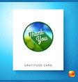 green thank you announcement template vector image