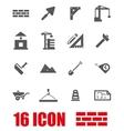 grey construction icon set vector image vector image