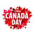 happy canada day poster 1st july vector image