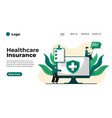 health insurance concept landing page vector image