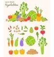 Healthy food vegetable background vector image