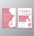Healthy Pregnant women infographic vector image vector image