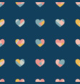 heart collage seamless pattern vector image vector image