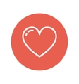 Heart thin line icon vector image