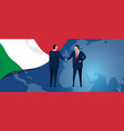 italy international partnership diplomacy vector image vector image