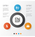 job icons set collection of group contract work vector image vector image