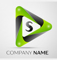 letter s logo symbol in the colorful triangle on vector image vector image