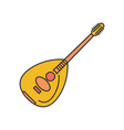 lute icon cartoon style vector image