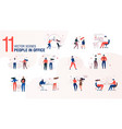 modern office people character flat set vector image vector image