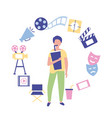 movie people production vector image