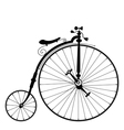 old black bicycle vector image