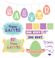 pack of carnival inspired scrapbook Easter vector image