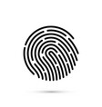 password touch id phone on white background vector image