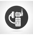 Portable radio kit black round icon vector image