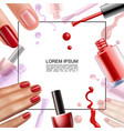 realistic nail polish design template vector image