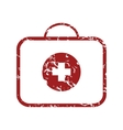 Red grunge doctor bag logo vector image
