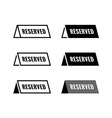 Reserved table icon Black and white color vector image vector image