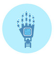 robotic arm icon modern robot technology concept vector image