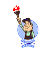 round frame with plumber vector image vector image