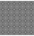 round monochrome shape geometric seamless pattern vector image