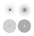 Set of four infinity black swirls on white vector image