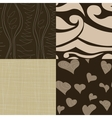 set of simple seamless patterns vector image