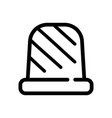 sewing thimble outline icon isolated on vector image
