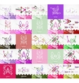 Square banners with linear elements vector image