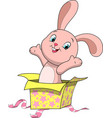 sweet funny bunny vector image vector image
