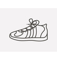 tennis shoes design vector image vector image