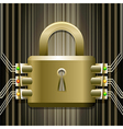 The electronic lock vector image vector image