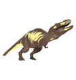 tyrannosaurus on white background vector image vector image