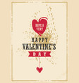 valentines day creative card design vector image vector image