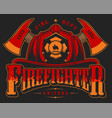 vintage firefighting colorful emblem vector image