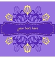Violet ornate background vector image vector image
