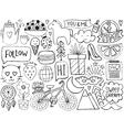 Sketch cute elements vector image