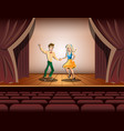 couple dancing on stage vector image