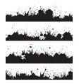seamless grunge border with splashes and drops to vector image