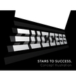 Te word success on the stairs vector image
