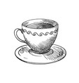 a cup of tea or coffee vector image vector image