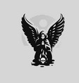a woman angel with wings vector image