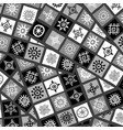 abstract black and white african motifs background vector image vector image