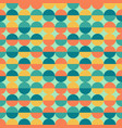 abstract colorful half circles seamless geometric vector image vector image