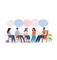 addiction treatment concept group therapy people vector image vector image
