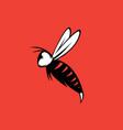 Aggressive bee or wasp mascot design template