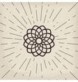 Asian lotos symbol vector image vector image