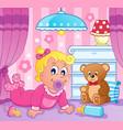 baby girl theme image 2 vector image vector image