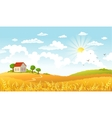 beautiful landscape vector image vector image